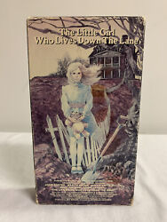 The Little Girl Who Lives Down The Lane Vhs 1983 Vestron Video Release