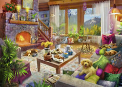 Cozy Cabin 1000 Piece Jigsaw Puzzle - Best Selling Puzzles - Free Shipping - New