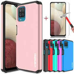 For Samsung Galaxy A12 Case Shockproof Tpu Defender Cover/glass Screen Protector
