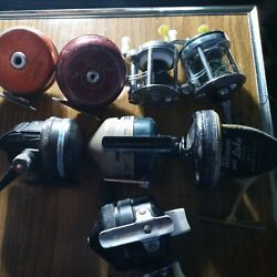 Vintage Fishing Reels Lot Of 8 Good All Zebco Stream Lake Shakespeare