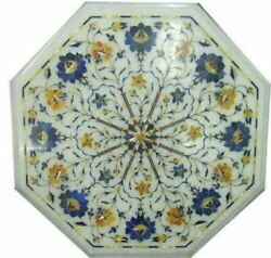 2and039x2and039 Table Marble Inlay Top Pietra Dura Garden Antique Coffee Dining Decor W95