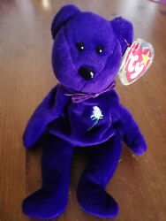 Princess Diana No Poem Swing Tag Indonesia Rare Ours Ty Beanie Baby Bear