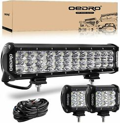Oedro Tri-row 12inch Led Light Bar 180w Combo Work Driving Lamp Truck Offroad
