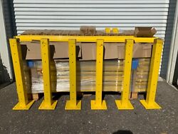 Huge Lot Of Brand New Uline Guardrails Posts And Pockets Incl. Flat Rate Freight
