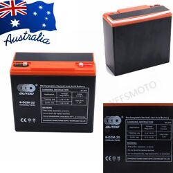 12v 24ah Agm Deep Cycle Battery 6-dzm-20 For Atv Scooter Golf Buggy Wheelchair
