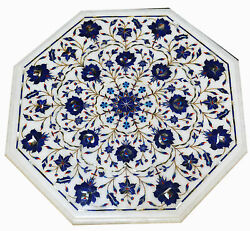 2and039x2and039 Marble Table Top Inlay Pietra Dura Garden Antique Coffee Dining Decor W110