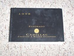 1998 Cadillac Eldorado Coupe Owner Ownerand039s Manual User Guide Touring 4.6l V8