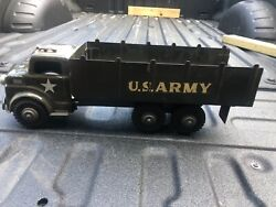 Vintage 1950and039s Marx Lumar Toy Army Truck Tin Litho See Pics Excellent Condition