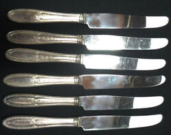 Lot Of 6 Knives Vintage Pieces Of Isabella Quality Silver Plate Isa1