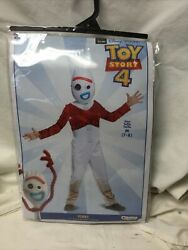 Disney Toy Story 4 Forky Child Halloween Costume Sma Size M 7-8 Jumpsuit And Mask