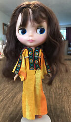 Vintage 1972 Kenner Blythe Doll Working Color Change Eyes Brown Hair, Has Shoes