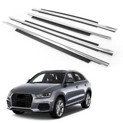 4x Rubber Seal Belt Window Moulding Trim Strips Weatherstrip For Audi Q3 Chrome