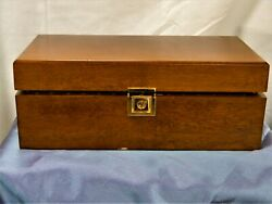H710 Vintage Wood Humidor Box With Hygrometer And Sponge Humidifier