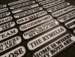 Street Sign 3d Look 6 Sizes Any Message Personalised Wall Or Freestanding Mdf