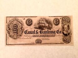 - 1840and039s 100 Canal And Banking Co. Of New Orleans Louisiana - Uncirculated Unc