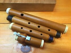 Antique Boxwood 1-key Flute In D Concert C Mid 1800's-nice Box-a=440-restored