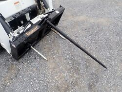 New Tomahawk Hay Spear Attachment For Skid Steers Single Tine Ssl Quick Attach