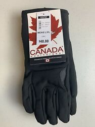 Canada Weather Gear Men's Winter Snow Ski Gloves Black L / Xl New With Tags