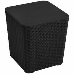 Yitahome 11.5 Gallon Resin Outdoor Patio Storge Deck Box Cabinet Chest Bin Table