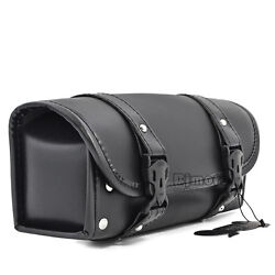 Motorcycle Saddlebag Luggage Tool Roll Barrel Bags Storage Pouch For Harley Bike $22.79