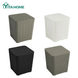 Yitahome 11.5 Gallon Deck Box Resin Patio Storge Cabinet Outdoor Container Box