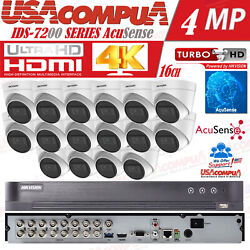 Hikvision Acusense Security System Kit 4k-uhd Cameras 5mp Outdoor Purple Hdd