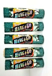 Pressto Hang And Go Pressure Activated Wall Border 5 Yd Teal Lilies Lot Of 5 Rolls