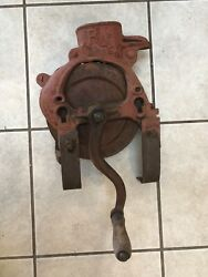 Antique Cast Iron The Root Heath R And H Corn Sheller Grinder Made Usa Farm Tool