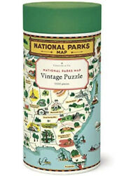 Cavallini And Co Vintage Puzzle National Parks Map 1000 Pieces