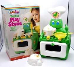 Vintage 1970's Turtle 450 Kids Pretend Play Stove Zoodle Land Irwin Toys In Box