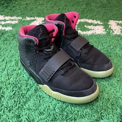 Nike Air Yeezy 2 Solar Red Size 8.5 100 Authentic 508214-006