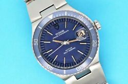 Vintage 1973 Tudor Oysterdate Chrono-time 37mm Blue Dial 9121/0 Watch