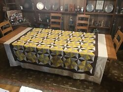 Vintage Quilt Top.......spinning Wheels