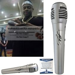 Jimmie Allen Signed Autograph Microphone Country Music Mic Beckett Bas Proof Coa