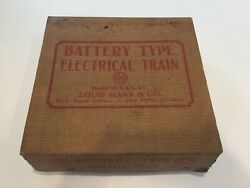 Marx Battery Type Electrical Train - Red Nyc Mercury Streamliner Boxed Set -1940