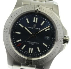Breitling Colt A17388 Date Navy Dial Automatic Men's Watch_609368