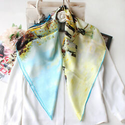 100 Mulberry Silk Square Scarf Four Seasons Crepe 90cm90cm Spring And Summer