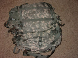 Us Military Acu Molle Ii Large Rucksack W/ Frame Kidney Pads And 2 Pouches New