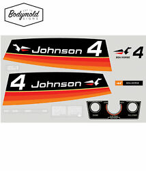Johnson 1974 4hp Replacement Outboard Decals/stickers
