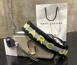 MARC JACOBS Snapshot Logo Strap DUST MULTI Small Camera Bag 100% AUTHENTIC amp; NEW