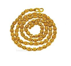 Hallmark 22 Kt Yellow Gold Customized Indian Unique Style Chain For Menand039s Gift