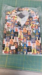 Vintage Nos Playboy Button Down Centerfold Magazine Covers Shirt Size Large Nwt