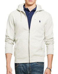 Polo Men's Zip Up Hoodie Heather Grey New With Tags Free Shipping