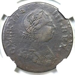 1787 V 19-87c Ngc Vf Details Georgivs Machinand039s Mills Colonial Coin 1/2p
