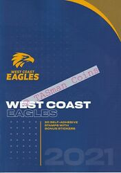 Stamp Pack Australia 2021 Afl West Coast Eagles Stamps And Stickers Collection