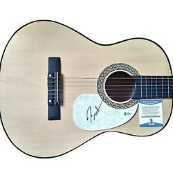 Jimmie Allen Signed Acoustic Guitar Proof Beckett Bas Country Musician Autograph