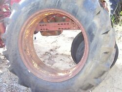 Vintage Jd 3020 Int 706 Tractor -34 Double Bevel Rear Wheel And Tire 16.9 X 34