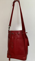 Coach Drawstring Bucket Tote Red $45.00