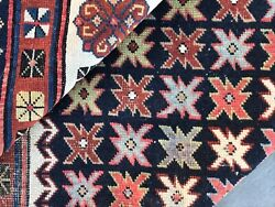 Antique Hand Knotted Wool Caucasian Talish. Pre 1900 Distressed Organic Dyes