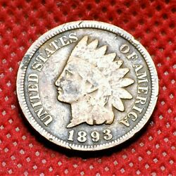 1893 Us. Indian Head Penny Chb2